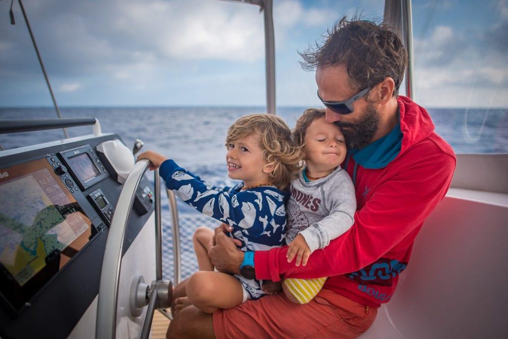 Enrico Tettamanti and his family on board his NEEL 51: KAMANA 1