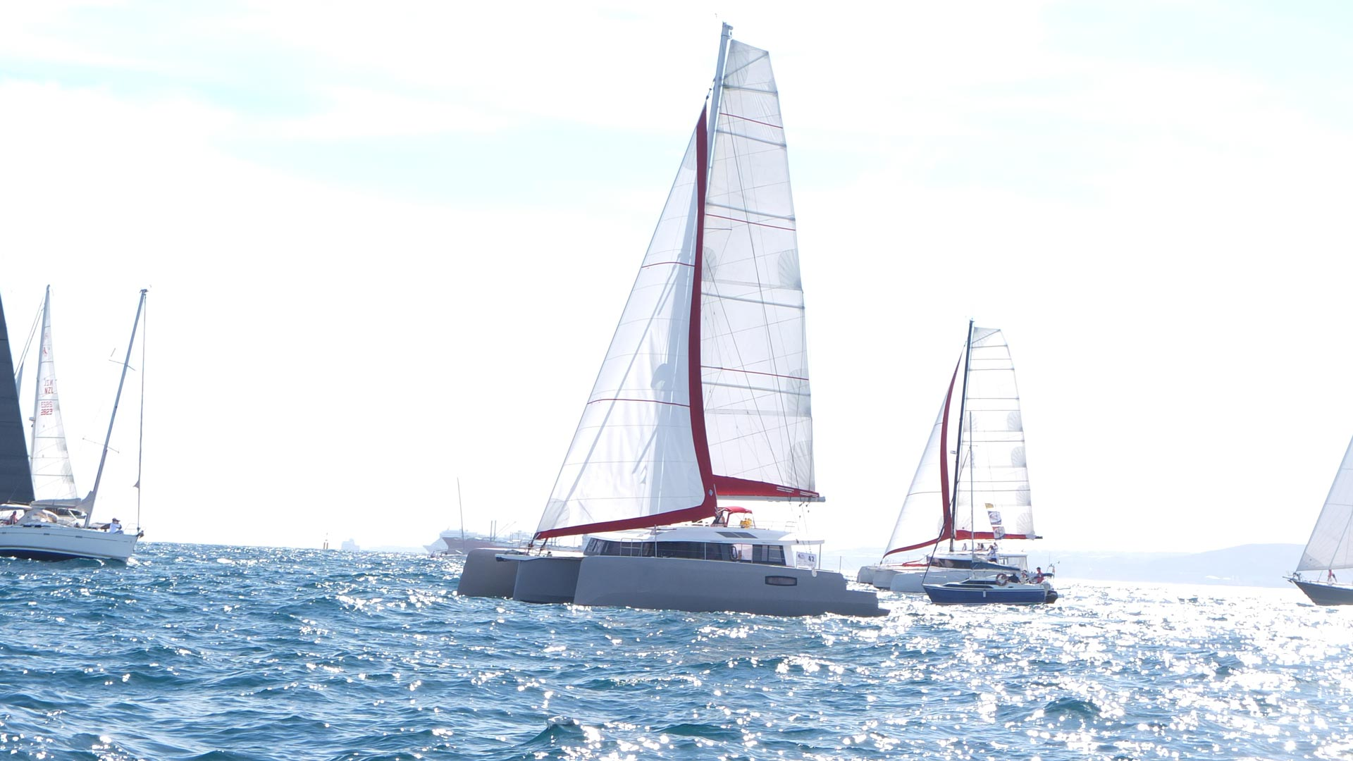 Two NEEL trimarans take the start of the ARC 2020 2