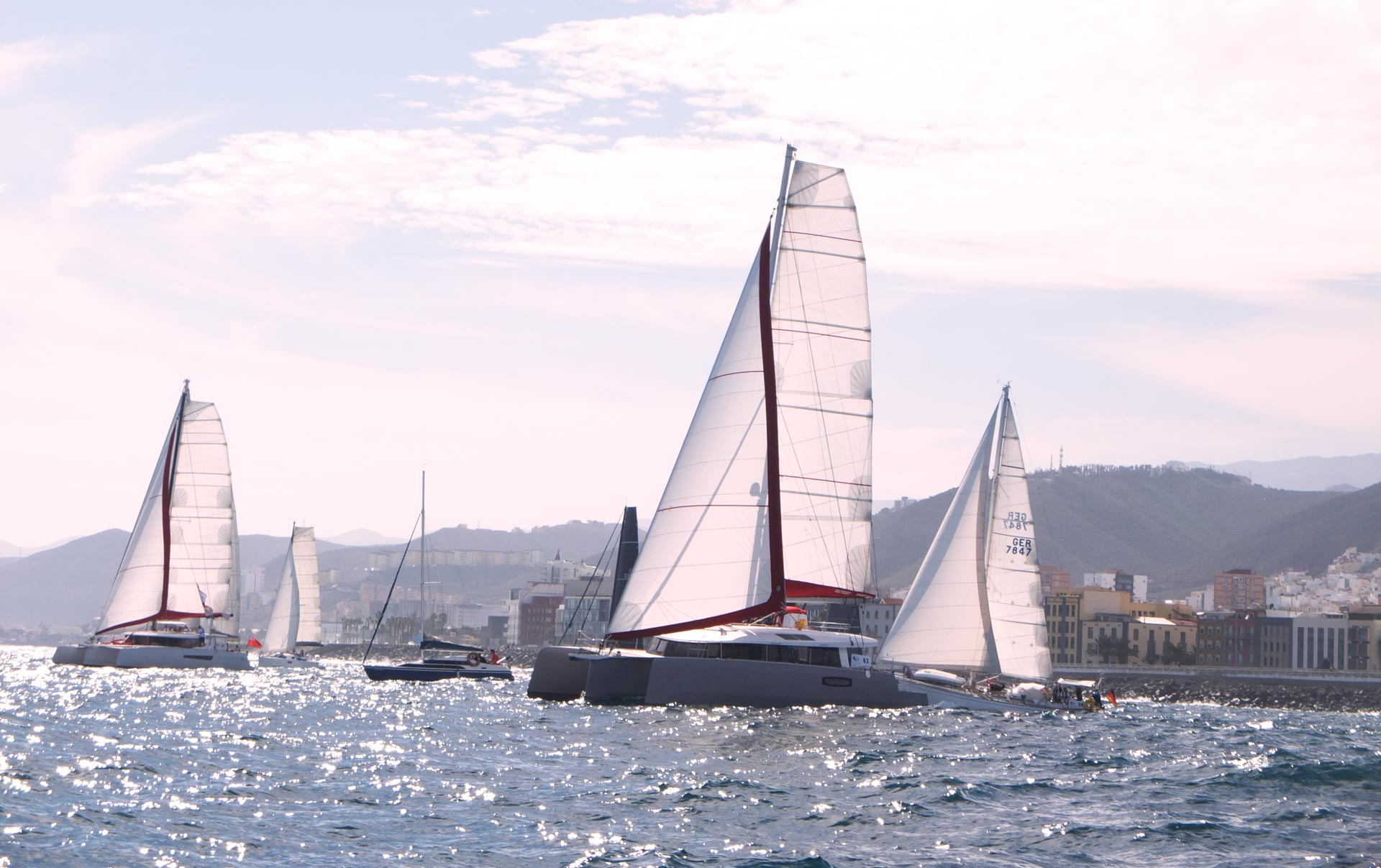 Two NEEL trimarans take the start of the ARC 2020