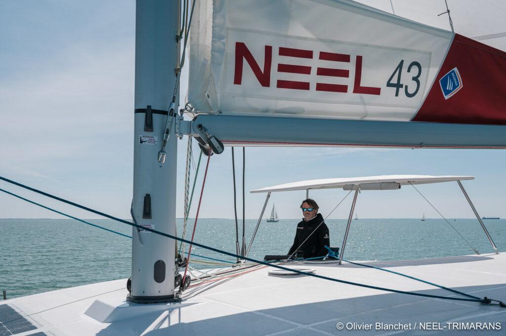Yannick Bestaven, winner of the 2020-2021 Vendée Globe, godfather of the NEEL 43 2